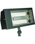 Dabmar DF5675-B Solid Brass Area Flood Light Black