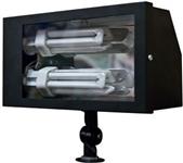 Dabmar DF5685-B Solid Brass Area Flood Light Black