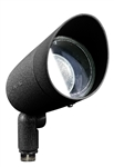 Dabmar DPR20-HOOD-B Cast Aluminum Directional Spot Light with Hood Black