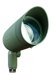 Dabmar DPR20-HOOD-G Cast Aluminum Directional Spot Light with Hood Green