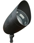 Dabmar DPR38-HOOD-B Cast Aluminum Directional Spot Light with Hood Black