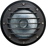 Dabmar DW4701-B Cast Aluminum In-Ground Well Light with Grill and PVC Sleeve Black