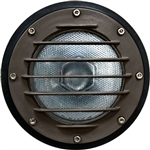 Dabmar DW4701-BZ Cast Aluminum In-Ground Well Light with Grill and PVC Sleeve Bronze