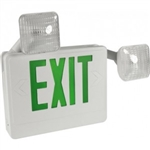 Orbit EECLA-W-G LED Exit Sign & Emergency Light Combo, 120/277V - White w/Green Letters