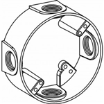 "Orbit EXR75-4 Electric Box Extension Ring, 4 Outlets w/3/4"" Hole Size - 4"" Round"
