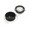 "Elco Lighting 1 1-2"" Low Voltage Mini Puck light with Surface Mount Can-Black"