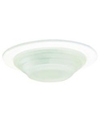 "Elco Lighting 3"" Low Voltage Mini Shower Trim with Frosted Stepped Glass-White"