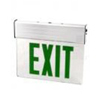 120-277VAC Double Sided LED Edge Lit Exit Sign Battery Backup-Green Letters