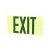 Elco Lighting Self Illuminating Exit Sign-Green Letters