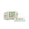 Elco Lighting 120-277V LED Exit Sign and Emergency Light Combo-Green Letters
