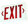 Elco Lighting LED Exit Sign with Battery Backup-Off White Box with Red Letters