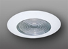"Elco Lighting 6"" Line Voltage Shower Trim with Fresnel Lens-White"