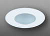"Elco Lighting 4"" Low Voltage Shower Trim with Round Drop Frosted Lens-White"