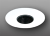 "Elco Lighting 4"" Low Voltage Pinhole Trim with Black Baffle-White"