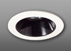 "Elco Lighting 4"" Low Voltage Trim with Adjustable Black Reflector-White"