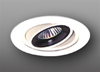 "Elco Lighting 4"" Low Voltage Gimbal Ring Trim with Black Baffle-White"