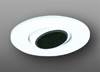 "Elco Lighting 4"" Low Voltage Gimbal Ring Trim with Deep Black Baffle-White"