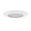 "Elco Lighting 6"" Line Voltage Shower Trim with Frosted Glass-White"