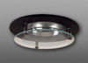 "Elco 3"" Low Voltage Trim with Suspended Glass Lens and Chrome Reflector-Black"