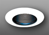 "Elco Lighting 6"" Line Voltage Trim with Wide Flange Black Baffle-White"