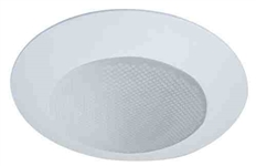 "Elco Lighting 6"" Line Voltage Shower Trim with Albalite Lens and Reflector-White"