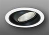 "Elco Lighting 6"" Line Voltage Trim Regressed Black Eyeball and Reflector-White"