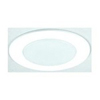"Elco Lighting 5"" Line Voltage Shower Trim with Albalite Lens-White"