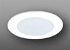 "Elco Lighting 5"" Compact Fluorescent Shower Trim with Albalite Lens-White"