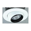 "Elco Lighting 5"" Line Voltage Trim with Eyeball and Black Baffle-White"