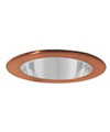 "Elco Lighting 4"" Low Voltage Shower Trim with Clear Lens-Copper"