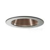"Elco Lighting 4"" Line Voltage Trim with Metal Step Copper Baffle-Black"