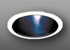 "Elco Lighting 6"" Line Voltage Trim with Specular Cone Black Reflector-White"