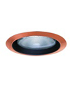 "Elco Lighting 6"" Line Voltage Trim with Metal Step Black Baffle-Copper"