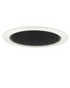"Elco Lighting 5"" Line Voltage Trim with Metal Step Black Baffle-White"