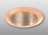 "Elco Lighting 5"" Line Voltage Trim with Metal Step Baffle-Copper"