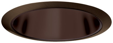 "Elco Lighting 6"" Line Voltage Trim with Specular Reflector-Bronze"