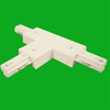 Elco Lighting Track T Connector with Power Entry-White