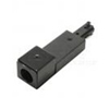 Elco Lighting Track Conduit Connector-Black