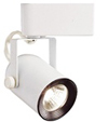 Elco Low Voltage Electronic Round Back Track Fixture-White with Black Baffle