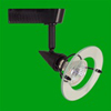 Elco Lighting Low Voltage Electronic High Tech Europe Style Track Fixture-Black
