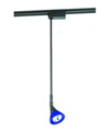 "Low Voltage 24"" High Tech Stem Ext Track Fixture-Black Stem Blue Glass Shade"