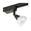 Elco Lighting Low Voltage High Tech Track Fixture-Black with White Glass Shade
