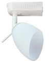Elco Lighting Low Voltage Clasp Globe Track Fixture-White Frosted Glass Shade