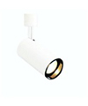 ElcoLine Voltage PAR 20 Flat Back Cylinder Track Fixture-White with Black Baffle