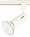 Elco Lighting Line Voltage Round Back Universal Track Fixture-White
