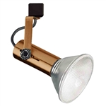 Elco Lighting Line Voltage Flat Back Universal Track Fixture-Copper
