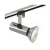 Elco Lighting Line Voltage Flat Back Universal Track Fixture-Brushed Nickel