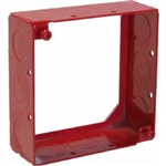 "Orbit FA-4SB-MKO-EXT Fire Alarm Box Extension Ring, 1 1/2"" Deep w/MKO Knockouts - 4"" Square"