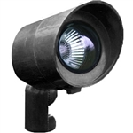 Dabmar FG132-B Fiberglass Directional Spot Light with Hood Black