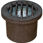 Dabmar FG315-BZ Fiberglass In-Ground Well Light with Grill Bronze